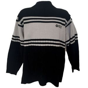 0aec48e4bc South Pole Black Ribbed High Sweater Large